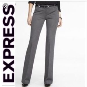Express Dark Grey Fitted Boot-cut Editor Pant! 6R